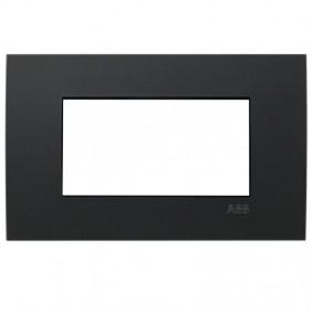 Placca Abb Etik Square Mylos 4 moduli nero...