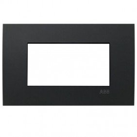 Plaque Abb Etik Square Mylos 4 modules noir...