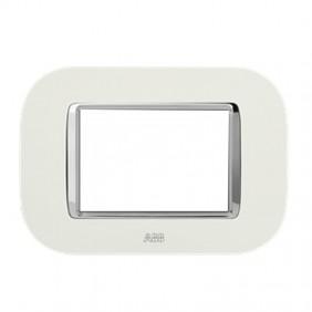 Placca Abb Round Velvet 3 moduli colore bianca...