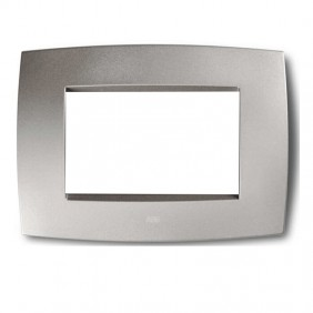 Abb Elos placca 3 moduli grigio argento...