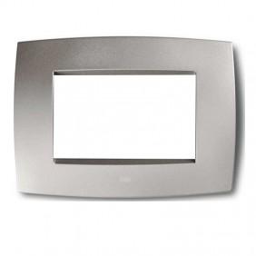 Abb Elos plate 3 modules silver gray 2CSE0302SMP