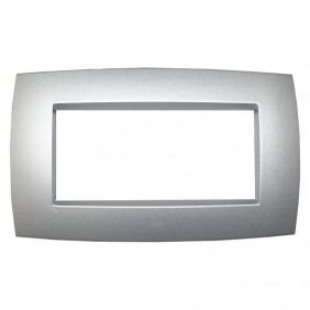 Abb Elos plate 4 modules silver grey 2CSE0402SMP