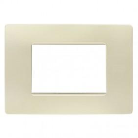 Plate 3 modules Urmet Simon Nea ivory 11803.AV