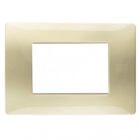 Plate 3 modules Urmet Simon Nea satin gold...