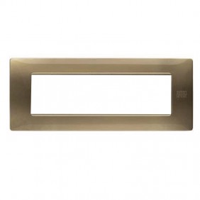 Plaque Urmet Simon Nea Flexa 7 modules bronze...