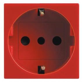 Legrand Vela red 10/16A two-way schuko socket 2...