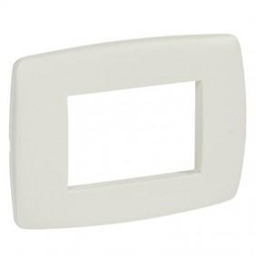 Legrand Vela plate round white stucco 3 modules...