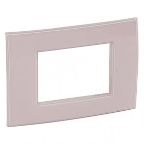Legrand plate Vela square pink peach 3 modules...