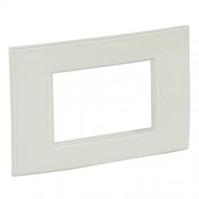 Legrand plate Vela square white enamel 3...