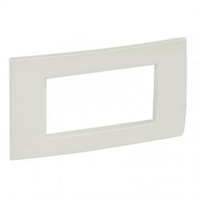Legrand plate Vela square white enamel 4...