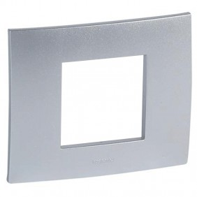 Legrand plate Vela square metallic gray 2...