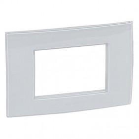 Legrand plate Vela square metallic gray 3...