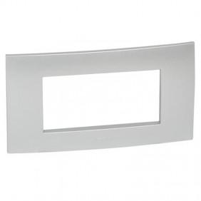 Legrand plate Vela square metallic gray 4...