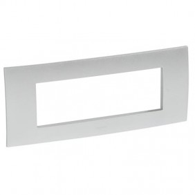 Legrand plate Vela square metallic grey 6...