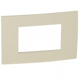 Legrand plate Vela square ivory 3 modules 685800