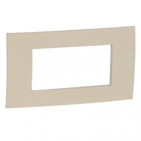 Legrand plate Vela square ivory 4 modules 685801