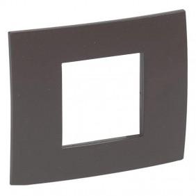 Legrand plate Vela square cocoa 2 modules 685804
