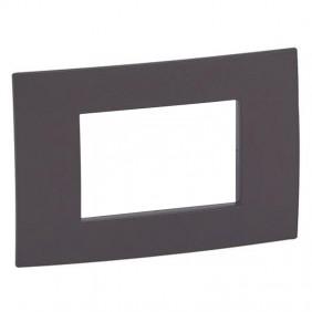 Legrand plate Vela square cocoa 3 modules 685805