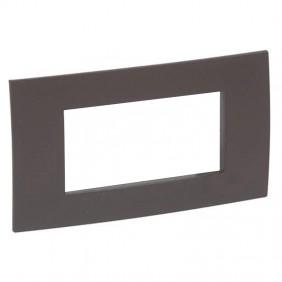 Legrand plate Vela square cocoa 4 modules 685806