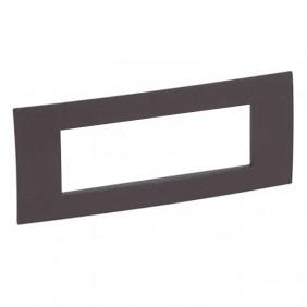 Legrand plate Vela square cocoa 6 modules 685807