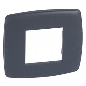 Legrand Vela plate round anthracite 2 modules...