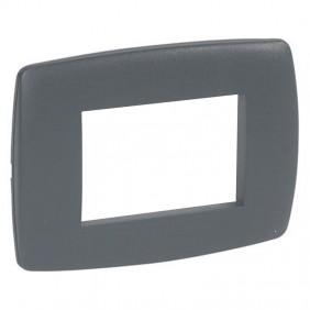 Legrand Vela plate round anthracite 3 modules...