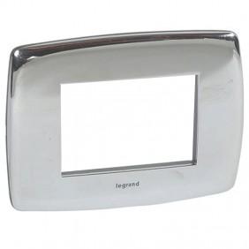 Legrand Vela plate round polished chrome 3...