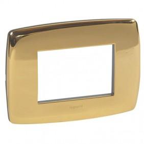 Legrand Vela plate round gloss gold 3 modules...
