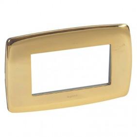 Legrand Vela plate round gloss gold 4 modules...