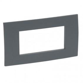 Legrand plate Vela square 4 places anthracite...