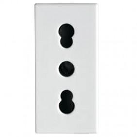 Bocchiotti bivalent socket 2P+E 10/16A 250V 02808