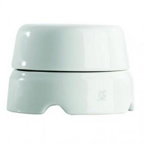Gambarelli box in white porcelain 100mm 01520