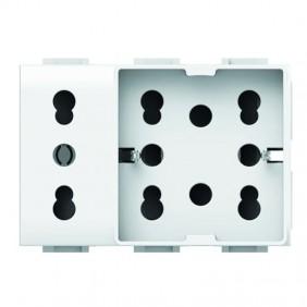 Presa elettrica universale 10/16A 3 moduli Side...