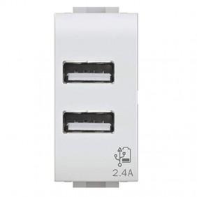 Presa doppia USB 4Box 2.4A per Bticino Matix...