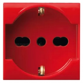 Schuko socket bypass red Ave LIFE 2 modules...