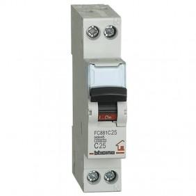 BTICINO CIRCUIT BREAKER 25A 1+N 4.5 KA FC881C25