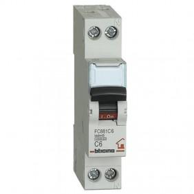 BTICINO CIRCUIT BREAKER 6A 1+N 4.5 KA FC881C6