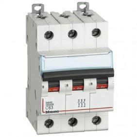 BTICINO circuit BREAKER 3-POLE 63A C CURVE 6 ka...