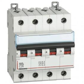 BTICINO circuit BREAKER, 4-POLE 20A C CURVE 4.5...