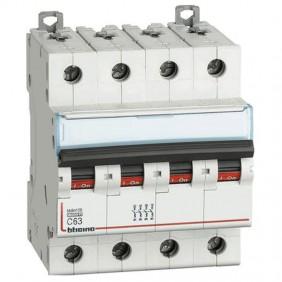 BTICINO circuit BREAKER 4 POLES 63A C CURVE...