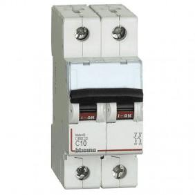 Circuit breaker, Bticino 2P 10A 4.5 kA Type C-2...