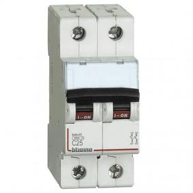 Circuit breaker, Bticino 2P 25A 4.5 kA Type C-2...