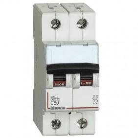 Circuit breaker, Bticino 2P 50A 4.5 kA Type C-2...