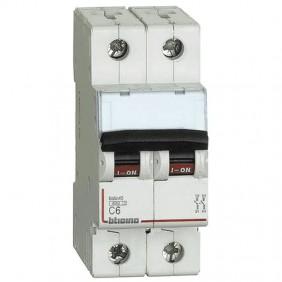 Circuit breaker, Bticino 2P 6A 4.5 kA Type C-2...