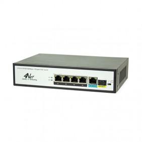4Power 5GBE 4POE / 65W 4N-G04P1T1F Switch