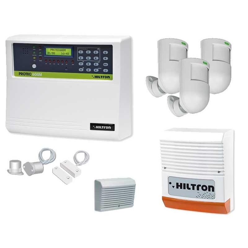 HILTRON KIT SISTEMA ANTIFURTO 6 ZONE GSM KPROTEC6GSM