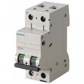 Circuit breaker Siemens 2P 2A 6 Type C 2 Modules