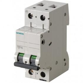 Circuit breaker Siemens 2P 10A 6 ka Type C 2...