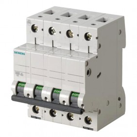 Circuit breaker Siemens 4P 50A 6 ka Type C 4...
