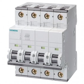 Circuit breaker Siemens 4P 10A 15kA Type C 4...